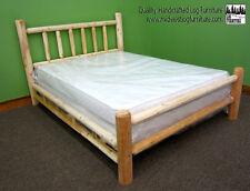 Premium Rustic Log Bed - Queen $319 - Double Log Side Rails & Support Slats Incl