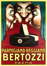 Achille Mauzan, Bertozzi Parmigiano Reggiano 1936. Poster 11 x 17 Giclee Print