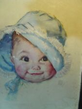 """antique lithograph Baby Puff Picture Maud Tousey Fangel/Cloth Doll Lovers 6x8"""""""