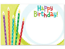 "50ct. ""Happy Birthday"" Plate & Candles Blank Florist Enclosure Cards Small Tags"