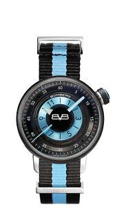 Bomberg Women's CT38H3PBA-06-2-9 BB-01 38mm Black/Blue Dial Nylon Watch