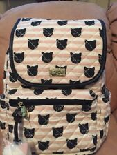 LUV BETSEY By BETSEY JOHNSON  BLACK CATS Pink Backpack School Book Bag Travel
