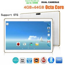 10.1Zoll Tablet PC Android 6.0 Octa Core 64GB+4GB HD WIFI Phablet 2SIM & 2Kamera