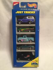 1996 Hot Wheels Just Trucks 5 Car Gift Pack New In Sealed Package 1:64 Diecast