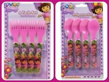 NEW Licensed Dora the Explorer Cutlery Pack of 4 Forks & 4 Spoons