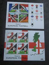 GIBRALTAR 2000 European Football Championships mini sheets SG 911 mnh