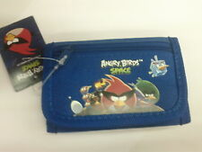 Space Angry Birds Kid Trifold Wallet With Coin Compartment Blue 100% Original