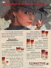 PUBLICITE ADVERTISING  1983   CLIMACTIVE  créme hypoallergénique