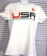 Ralph Lauren Team USA 100% Cotton Winter Olympics Sochi 2014 T-Shirt Top L