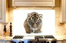 Tiger Cub Printed Kitchen TOUGHENED Glass Cooker Splashback Photo 1000x600