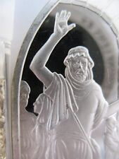 1+OZ.STERLING SILVER BOOKS OF THE BIBLE (AMOS ROLE OF THE PROPHET)   +  GOLD