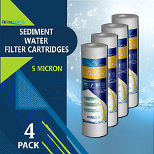 "4 Pack Sediment 5 Micron Water Filters Cartridge 2.5"" x 10"" for Reverse Osmosis"