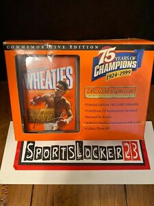 1999 Wheaties 75 Years of Champions Muhammad Ali 24K Gold Signature Mini Box