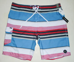 "NEW - O'NEILL Board Shorts SANTA CRUZ STRIPE 10"" Swim Suit Trunks Mens NWT Sz 42"