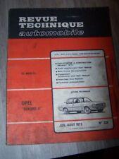 3Y - RTA Revue technique Nø326 Opel Rekord II 2