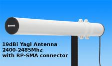 ANTENNA Yagi Antenna 2.4Ghz 19dBi WLAN WIFI RP-SMA WIRELESS RETE tutti 10 M