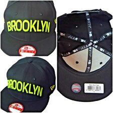 Brooklyn New Era Snapback caps, 950 black, flat peak baseball hats, classic
