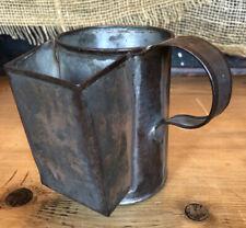 Civil War Soldier'S Tin Shaving Mug Tinware