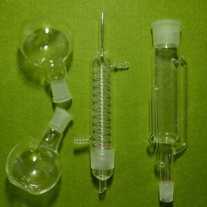 Soxhlet Extractor W/Graham Condenser & Two Flat Flasks,250ml,24/40,Lab Glassware