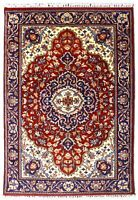 5x8 Traditional Geometric 100% Wool Area Rug Indian Hand Knotted Red Carpet