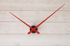 horloge design minimaliste diamètre 90cm min grandes aiguilles géantes rouge DIY