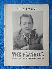 Harvey - Forty-Eighth Street Theatre Playbill - August 23rd, 1948 - James Dunn