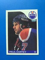 Paul Coffey 1985-86 #85 O-Pee-Chee Hockey Card Edmonton Oilers