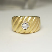 Aparter Ring 0,42ct TW-si Brillant in 750/18K Gelbgold Handarbeit
