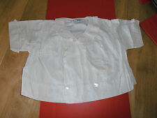 1900s Best & Co Liuputian Bazaar Boys Cotton Top with Pleated Collar & Sleeve