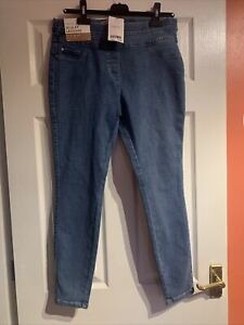 Next Supper Stretch Mid Rise Sculpt Pull On Denim Leggings, Size 14R, New