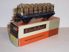 0064-Electrotren ref.1005 vagón con teleros y carga de madera   C.A.   H0 - 1/87