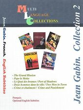 Jean Gabin  Collection 2 . French, English.  5 Movies.  2DVD's  set.