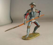Elastolin n° 8936 soldat Ritter Moyen âge hallebarde 7 cm