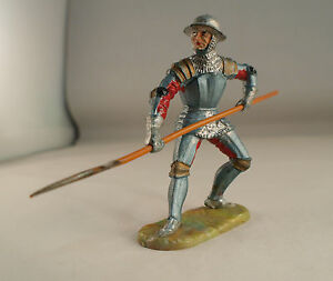 Elastolin N°8936 Soldier Ritter Medium Age Halberd 2 13/16in