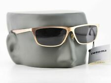 Vintage Renoma Gold Square UV Grey Lenses Sunglasses Made in Japan NEW 57-15