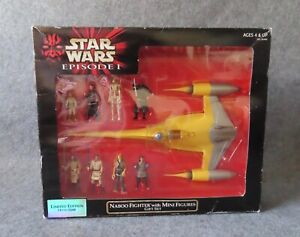 Hasbro Star Wars Episode 1 Naboo Fighter with Mini Action Figures Set, 1999 Ep1