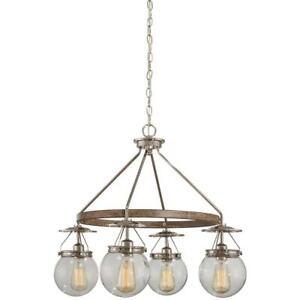 Good Lumens by Madison Avenue 4-Light Polished Nickel & Corona Bronze Chandelier