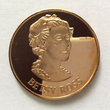1971 Betsy Ross Proof-Like Solid Bronze Medal Danbury Mint A5333