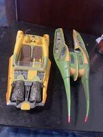 Hasbro Star Wars Zam Wesell & Anakin Coruscant Speeder Ship Lot 2002