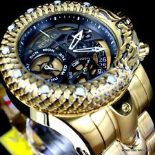 Invicta Venom Subaqua Dragon Scale Gold Plated Steel Chronograph 52mm Watch New