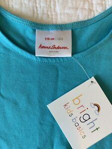 New Hanna Anderson Short Sleeve Dress Size 5 110 Bright Basics Cute Comfy NWT