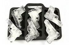 6 GUN ICE CUBE TRAY/PISTOL MOULD-PARTY-NOVEL-JELLY/CHOCOLATE SILICONE MOLD-ARMY