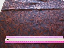 """Brown embossed rose print on brown background-polyester blend fabric 36"""" x 44"""""""
