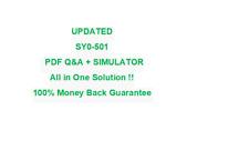 SY0-501 CompTIA Security  Test PDF & Sim