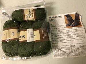 Mary Maxim Crochet Tweed Slippers kit