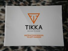 Tikka T3 Lh Left-Handed Instruction Operators Manual - Genuine Oem - New