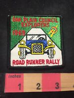 Vtg OAK PLAIN COUNCIL EXPLORERS ROAD RUNNER RALLY BSA Boy Scouts CAR Patch 80XE