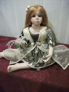 """Charly 27"""" Seated Porcelain Doll by Georgina Whalley"""