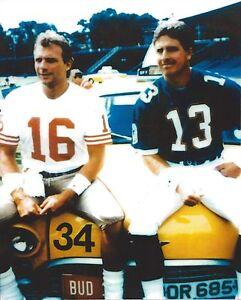 JOE MONTANA & DAN MARINO 8X10 PHOTO SAN FRANCISCO 49ers PICTURE NFL FOOTBALL