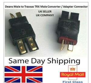TRX Male to Deans T plug Male Connectors Adapter Converter lipo battery RC UK